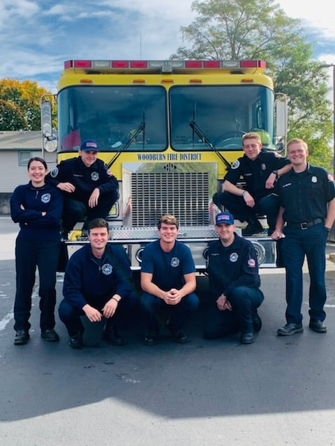 Pictured are student resident volunteers: Abigail Frey, Zach Richardson, Brock Rogers, Nolan Moore, Noah Wierstra, Troy Jordan, and Jared Redmon